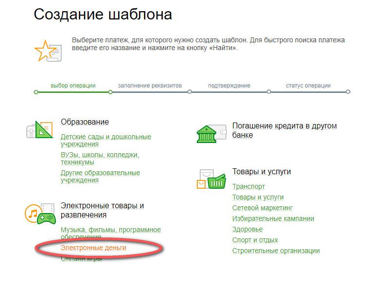 перевод на яндекс деньги с карты сбербанка смс